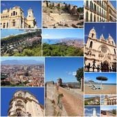 Malaga collage — Stock Photo