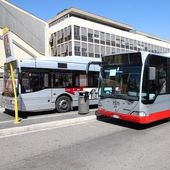 Autobus řím — Stock fotografie