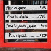 Bar menu — Foto Stock