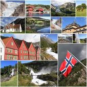 Norway collage — Stock Photo