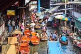 Floating market in Asia — Stock Photo