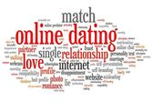 Online dating — 图库照片