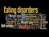 Eating disorders — Stock Photo
