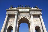 Milan monument — Stock Photo