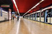 Metro train in Madrid — Stock Photo