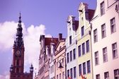 Gdansk retro — Stock Photo
