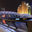 Shanghai Bund Garden Bridge at night night landscape — Stok fotoğraf