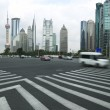 Stock Photo: Lujiazui Finance&Trade Zone of modern urbarchitecture backgro
