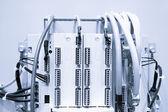 Panel de control caso, potencia industrial con interruptores de circuito — Foto de Stock