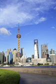 Lujiazui Finance&Trade Zone of Shanghai skyline at city landscap — Fotografia Stock