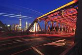 Puente del jardín del bund de shanghai — Foto de Stock