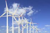 White wind turbines — Stock Photo