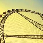 Ferris wheel against the blue sky — Stock Photo