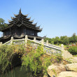 Ancient buildings in the Chinese garden — Stock Photo