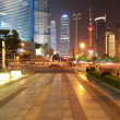 The street scene of the century avenue in shanghai,China. — Stock Photo