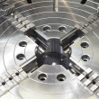 Powerful industrial equipment rotary table close-up — Stock Photo