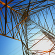 Stock Photo: Power transmission towers of sky background