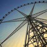 Ferris wheel against the blue sky — Stock Photo #25974559