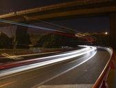 Highway bij nacht — Stockfoto