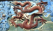 Chinese dragon of ancient ceramics — Stock Photo
