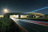 Highway bridge at Night — Stock Photo