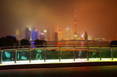 Lujiazui of Shanghai bund at New landmark skyline — Stock Photo