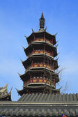 Oude chinese tempel toren in wuxi — Stockfoto