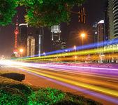 Dálného východu město shanghai lujiazui svátek noční scenérie — Stock fotografie