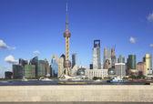 Lujiazui Finance&Trade Zone of Shanghai skyline at city landscap — Stock Photo