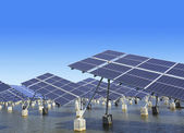 Industrial photovoltaic installation — Stock Photo