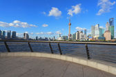 Clear Skies at shanghai of modern city architecture skyline — Foto de Stock