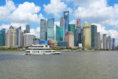 Clear Skies at shanghai of modern city architecture skyline — Stock Photo
