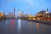 Lujiazui Finance&Trade Zone of Shanghai bund — Zdjęcie stockowe