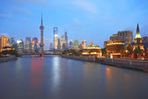 Lujiazui Finance&Trade Zone of Shanghai bund — Foto de Stock