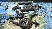 Chinese dragon of ancient ceramics — Stock Photo