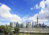 Lujiazui Finance&Trade Zone of Shanghai landmark skyline — Stock Photo