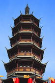 Ancient Chinese temple tower — Stock Photo