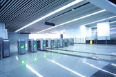 Interior of the modern architectural at automatic fare gate — Stock Photo