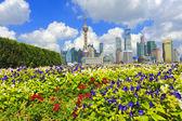 Lujiazui Finance&Trade Zone of Shanghai landmark skyline — Stock fotografie