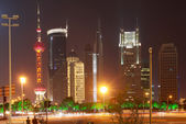 The street scene of the century avenue in shanghai,China. — Stock Photo
