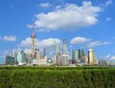 Lujiazui Finance&Trade Zone of Shanghai landmark skyline at city — Stock Photo