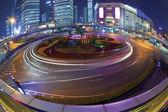 Shanghai Highway bridge at Night — Stock Photo