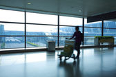 Passenger in the airport — Stock Photo