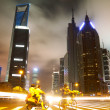 Stock Photo: Street scene in shanghai Lujiazui at night,China