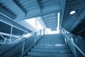 Marble staircase in modern building — Stock Photo