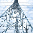 The power transmission towers of sky background — Stock Photo