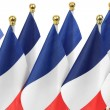 France flags hanging on the gold flagpole, — Stock Photo