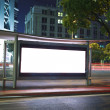Stock Photo: Modern city advertising light boxes