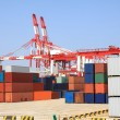 Port cranes and container trade — Stock Photo