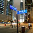 Road signs the night scene of Shanghai City — Stock Photo